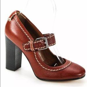 NWOB Chloe Block Heel Mary Jane Heels Leather